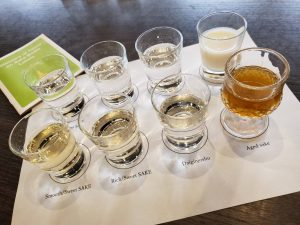 Drink comparison experience with sake matching test